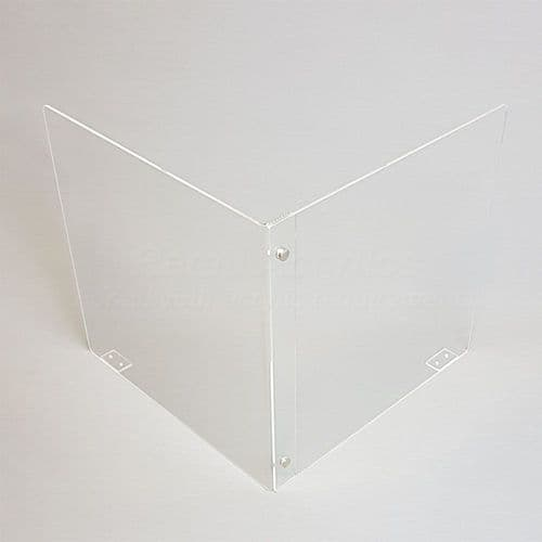 'L' Divider Desk Screen 90cm wide
