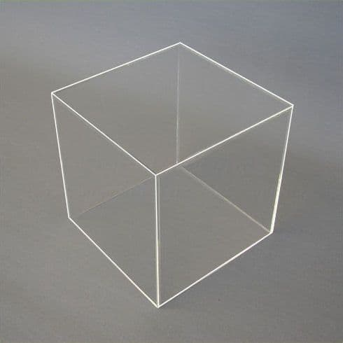 10cm - Clear Acrylic Display Cube / Box
