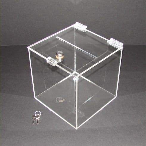 20cm  Lockable Clear Acrylic Suggestion Box