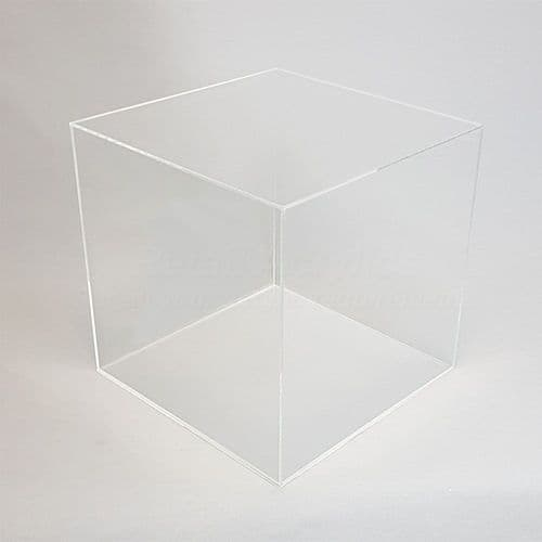 25cm  Clear Acrylic Display Case with Clear Base