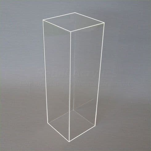 50cm Tall - Clear Acrylic Display Pedestal / Plinth