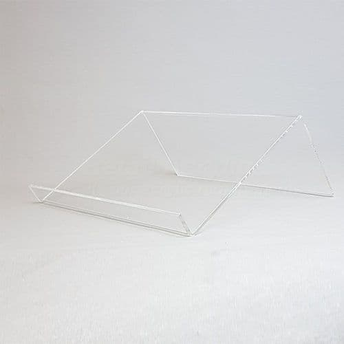 Clear acrylic laptop stand