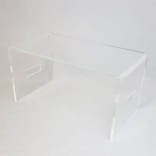 Clear acrylic laptop tray