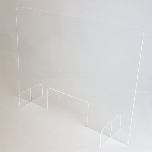 Flat Pack Sneeze Guard With Hatch 100cm wide