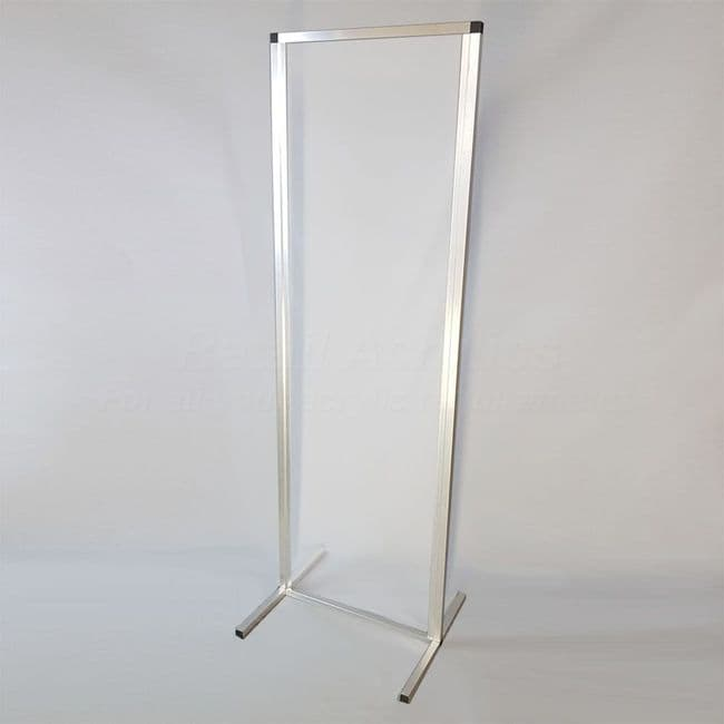 Free standing Sneeze Guard Screen – Clear 70cm wide