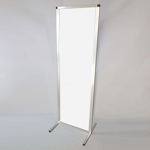 Free standing Sneeze Guard Screen – white 100cm wide