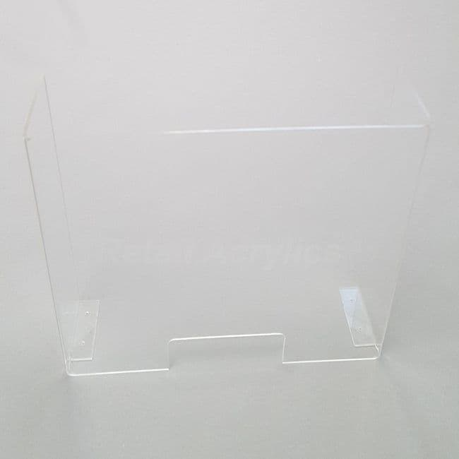Premium Sneeze Guard Screen - Clear Acrylic -75cm wide
