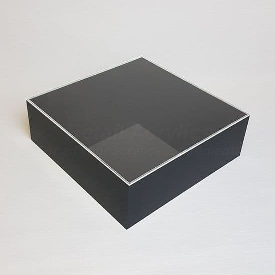 Trays with Lids - 10cm Deep- Black Acrylic