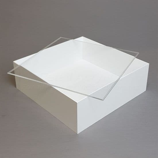 Trays with Lids - 10cm Deep- White Acrylic