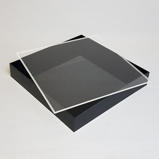Trays with Lids - 5cm Deep- Black Acrylic