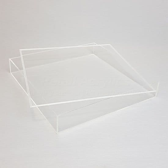 Trays with Lids - 5cm  Deep - Clear Acrylic