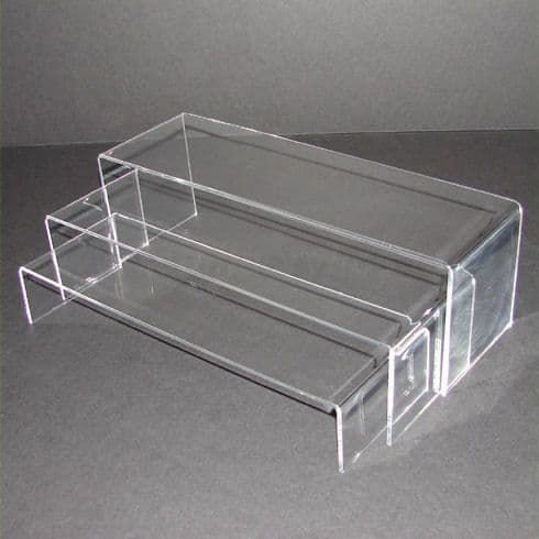 Wide Clear Acrylic Nesting Bridge - Set of 3
