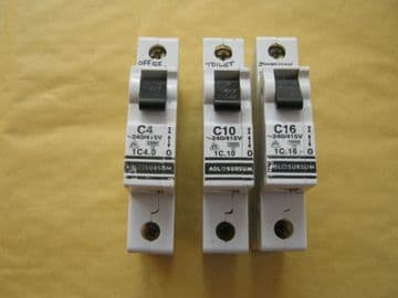 ABL SURSUM C4 (1C4.0) 10KA SINGLE POLE MCB CIRCUIT BREAKER.