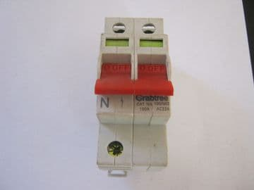 CRABTREE STARBREAKER 100A MAINSWITCH ISOLATOR.100/M12 100A AC22A.