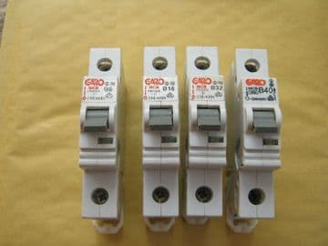 GARO B6 6 AMP 10KA SINGLE POLE MCB CIRCUIT BREAKER.