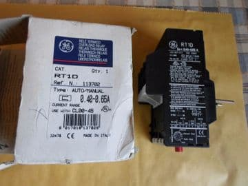 GE GENERAL ELECTRIC RT1D 113702 THERMAL OVERLOAD RELAY