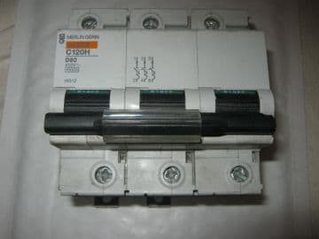 MERLIN GERIN C120H D80 80 AMP 15KA TRIPLE POLE (18512) CIRCUIT BREAKER