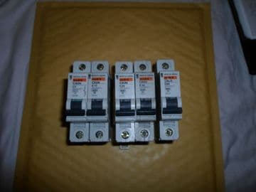 MERLIN GERIN C60N C6 C10 C20 C40 C63 SINGLE POLE 6KA MCB CIRCUIT BREAKERS