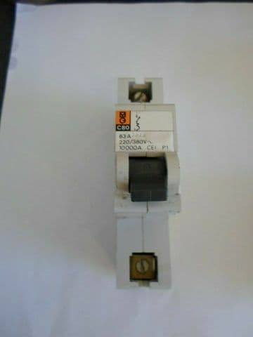 MERLIN GERIN C80 63 AMP 10KA SINGLE POLE MCB CIRCUIT BREAKER
