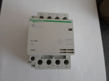 SCHNEIDER ELECTRIC  CT 40A 40 AMP 4 POLE N/C CONTACTOR (15969)