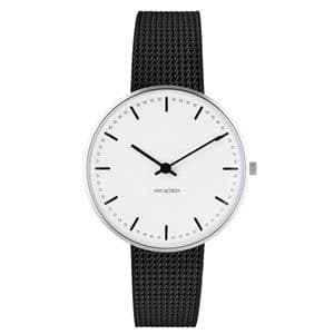 Arne Jacobsen City Hall Watch Small 34mm with Black Mesh Strap 53201-1610