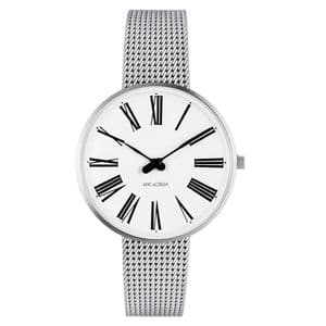 Arne Jacobsen Roman Watch Small Size 34mm with Mesh Strap 53301-1608