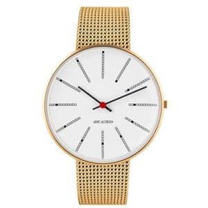 Arne Jacobsen 53108-2009 Bankers Watch Medium 40mm with Gold Mesh Strap