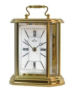 Billb Clair Mantel Carriage Clock in Polished Brass Finish