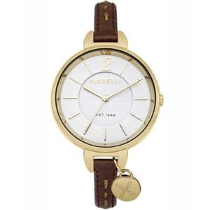 Fiorelli FO004TG Gold Ladies Brown Leather Watch