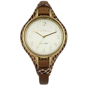 Fiorelli FO006TG Gold Ladies Brown Leather Watch