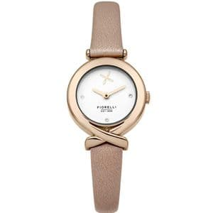 Fiorelli FO009CRG Rose Gold Ladies Pink Leather Watch