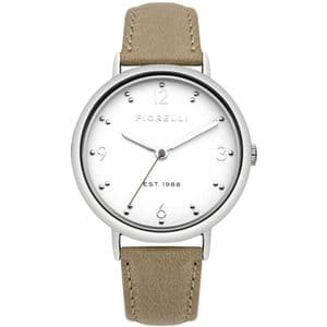 Fiorelli FO024E Steel Ladies Brown Leather Watch