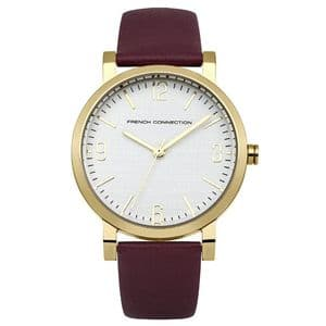 French Connection FC1249PA Ladies Purple Leather Strap Watch