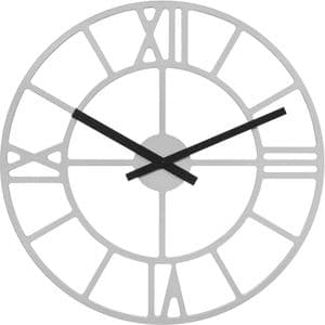 Hermle 30915-X52100 Large 70cm Round Silver Wall Clock