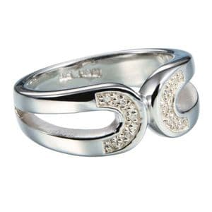 Hot Diamonds Simple Sparkle Sterling Silver Diamond Ring DR056