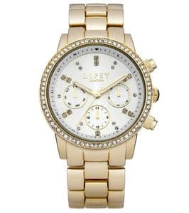 Lipsy LP168 Gold Coloured with White Dial Ladies Bracelet Watch