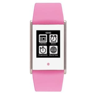 Phosphor Touch Time Watch with Pink Silicone Strap TT006