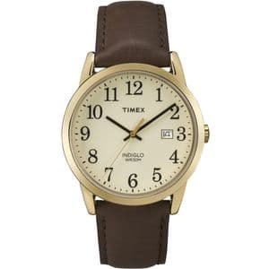 Timex TW2P75800 Easy Reader Gold Leather Strap Watch