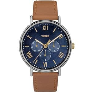 Timex TW2R29100 Southview Multifunctional Brown Leather Chronograph Watch