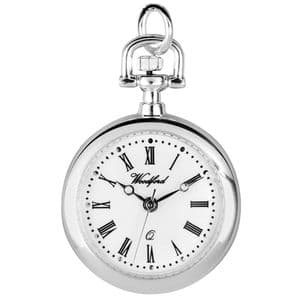 Woodford Silver Plated Quartz Pendant Watch 1204