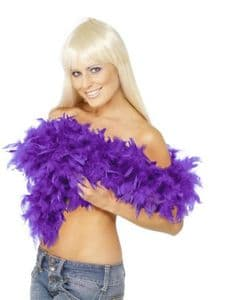 Luxury Purple Feather Boa * Affordable Feathers Boas * Burlesque Accessories * The Burlesque Boutique
