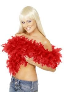 Luxurious Red Feather Boa * Burlesque Accessories * Quality Feather Boas * The Burlesque Boutique